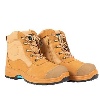 OX Nubuck Zipper Work Boots Size 8