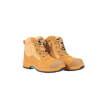 OX Nubuck Zipper Work Boots Size 10
