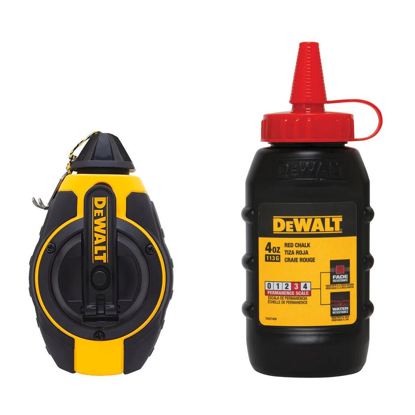 DeWALT 3:1 Chalk Reel 30m with Red Chalk