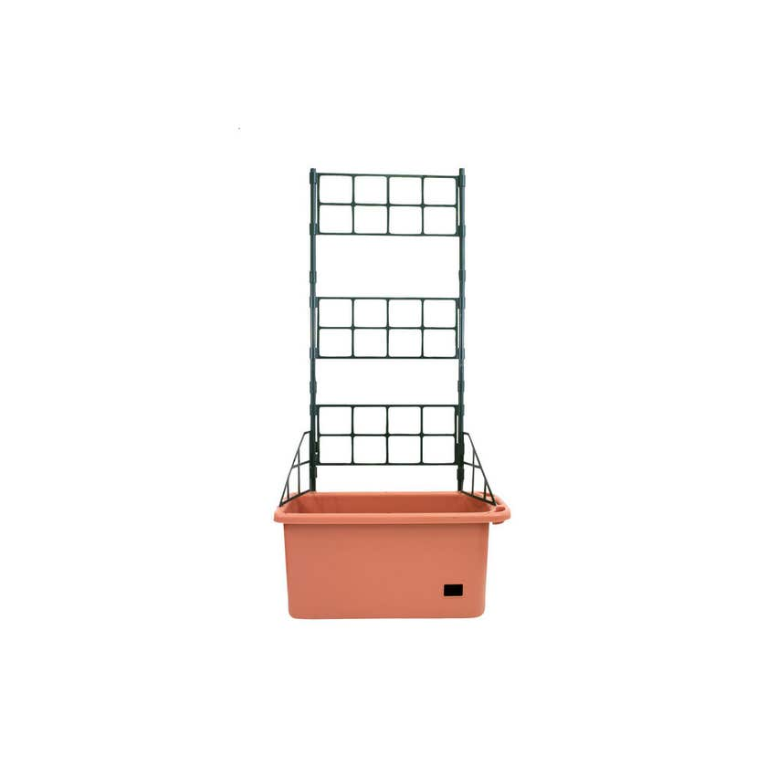 Mobile Vege Patch with Trellis Terracotta