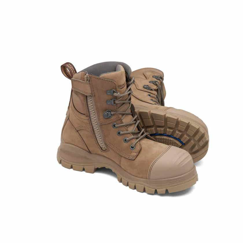 Blundstone 984 Water-Resistant Nubuck Safety Boot Stone