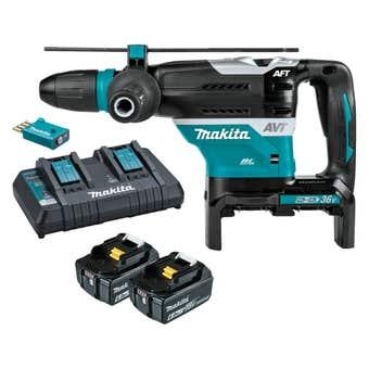 Makita 36V (18Vx2) Brushless AWS SDS Max Rotary Hammer Kit