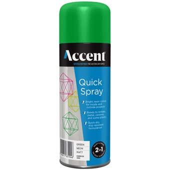 Accent Quickspray Neon Green 300g