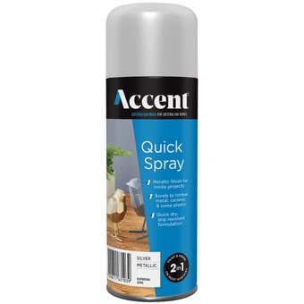 Accent Quickspray Metallic Silver 300g