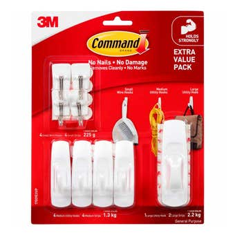 Command Hooks Adhesive Extra Value Pack - 9 Piece