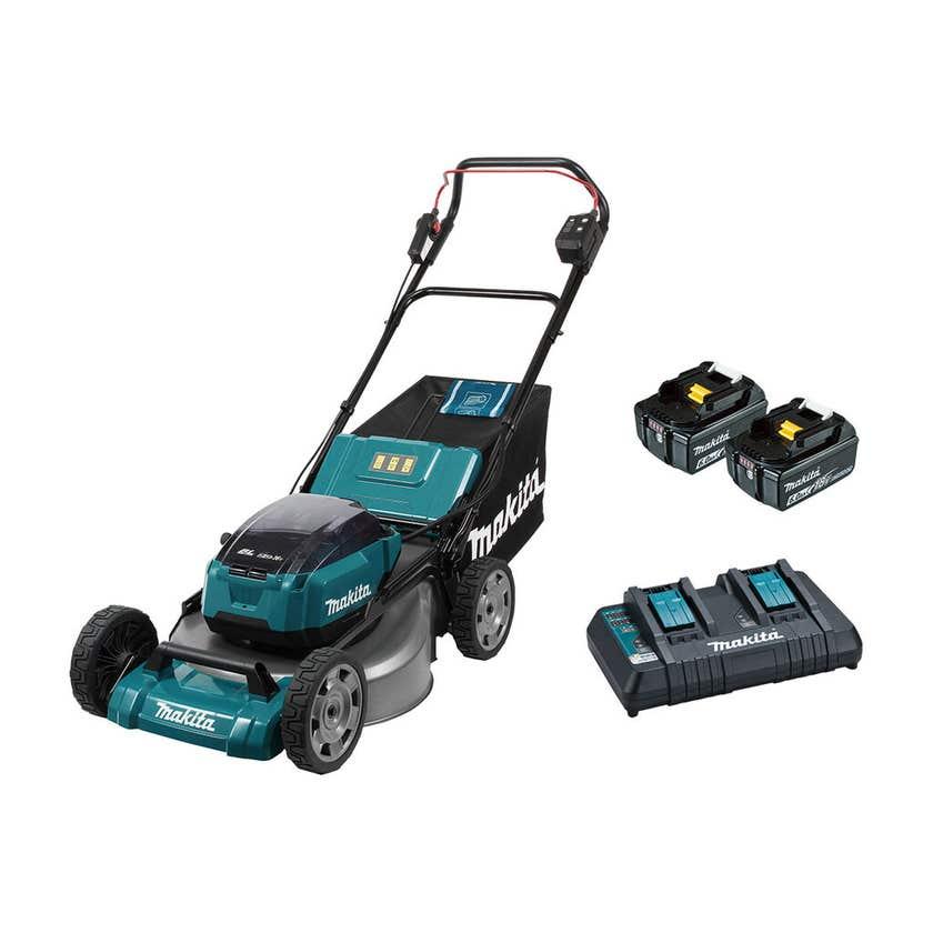 """Makita 36V (18Vx2) Brushless Lawn Mower Kit 534mm 21"""""""