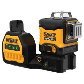 Dewalt 18V/12V XR 3 x 360° Green Cross Line Laser Kit