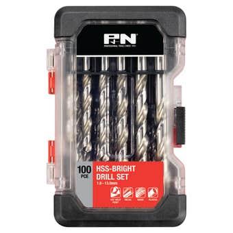 P&N Bright Drill Bit Set 1.0 - 13.0mm - 100 Piece