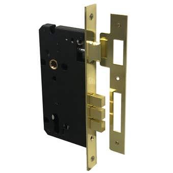 Superior Brass Entrance Lock Satin Brass