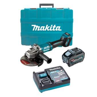 "Makita 40V Max Brushless Angle Grinder Kit 180mm (7"") GA037GT101"