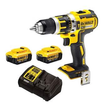 DeWalt 18V XR Brushless Hammer Drill Driver Kit - DCD795M2-XE