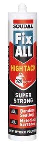 Soudal Fix ALL High Tack Sealant Aluminium 290ml
