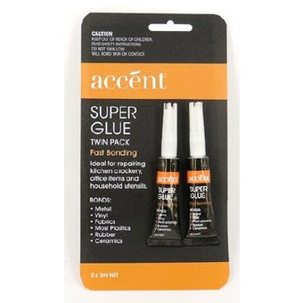 Accent® Super Glue Twin Pack 2 x 3g