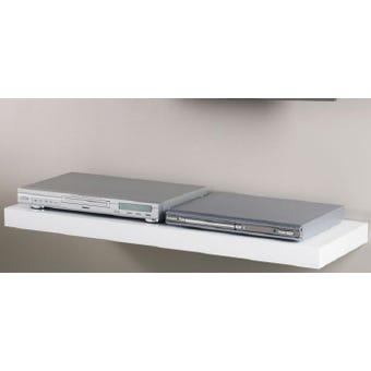 Shelf Media H/Gloss Wht  90 X 30 X 5Cm