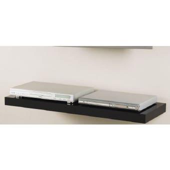 Shelf Media H/Gloss Blk 90 X 30 X 5Cm