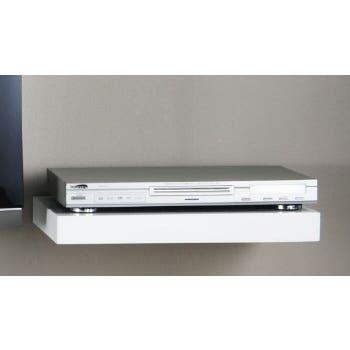 Topshelf Shelf Floating  Media White High Gloss 45X30X5CM