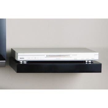 Shelf Media H/Gloss Blk 45 X 30 X 5Cm