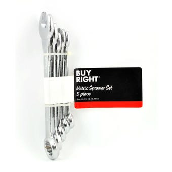 Buy Right® 5 Piece Metric Spanner Set