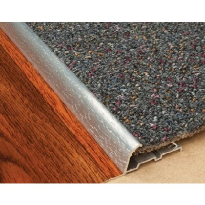 Edge Carpet Nap Lock Trim S/Steel 1M