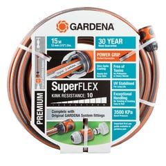 "GARDENA 13mm (1/2"") Premium SuperFLEX Hose - 15 metre fitted"