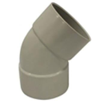Holman PVC DWV Bend F&F Plain 40mm 45 Deg