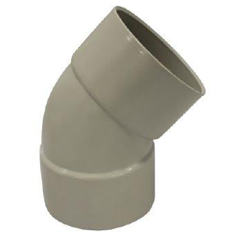 Holman PVC DWV Bend F&F Plain 65mm 45 Deg