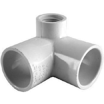 "Holman PVC Pressure Elbow Side Outlet 90 Deg 25mm x 1/2"""