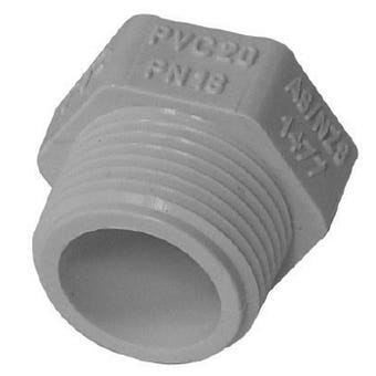 Holman PVC Pressure Screwed Plug 15mm
