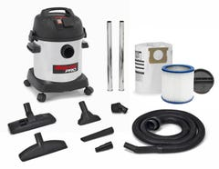 Shop Vac Pro20L 1400W S/S Wet/Dry Vacuum With Power Take Off