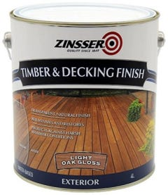 Zinsser Timber & Deck Finish Light Oak Gloss 4L