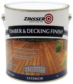 Zinsser Timber & Deck Finish Grey Gloss 4L