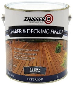Zinsser Timber & Deck Finish Ebony Gloss 4L