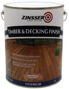 Zinsser Timber & Deck Finish Merbau Gloss 10L