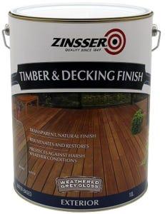 Zinsser Timber & Deck Finish Grey Gloss 10L