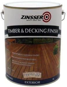 Zinsser Timber & Deck Finish White Gloss 10L
