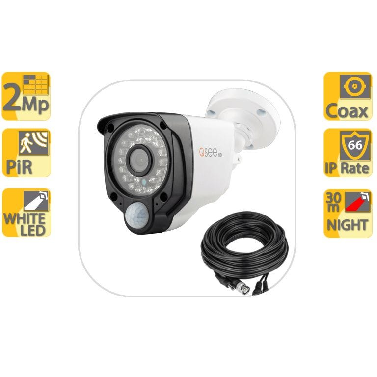 Q-See PIR 2MP Bullet Camera with Security Light