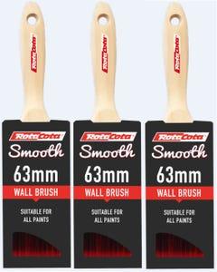 RotaCota Smooth Wall Brush 63mm - 3 Pack