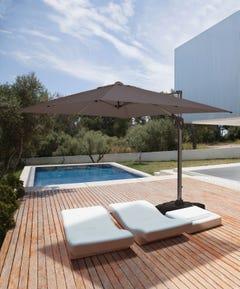 Coolaroo Melaleuca 3x3m Square Cantilever Umbrella - Graphite