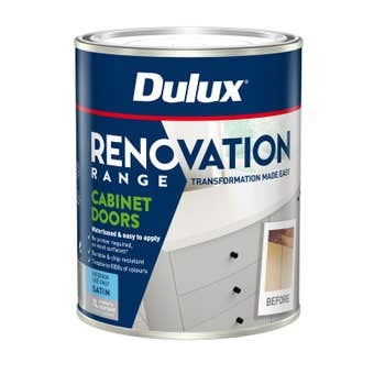 Dulux Renovation Range Cabinet Doors Satin Deep Base 1L