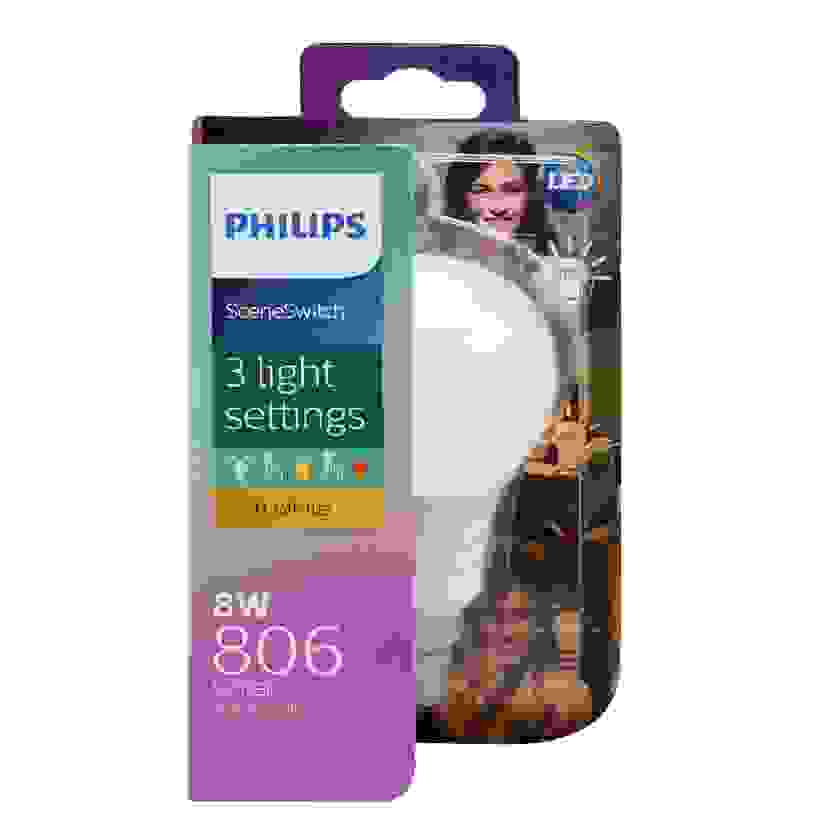 Philips LED Light Globe 3 Step Scene Switch A60 8W-60W BC