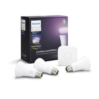 Philips Hue White and Colour Ambiance Starter 10W A60 ES Kit