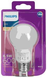 Philips LED Light Globe A60 ES Warm White 6.5W (40W)(600lm)