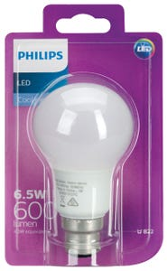 Philips LED Light Globe A60 bc Cool Daylight 6.5W 40W