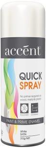 accent® Quickspray Satin White 310g