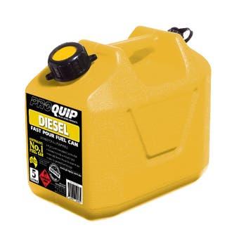 Pro Quip 5 Litre Plastic Fuel Can - Yellow Diesel