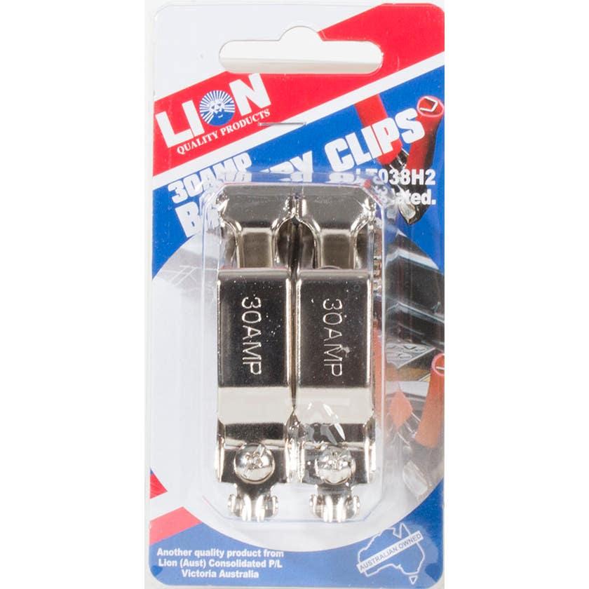 Lion 30Amp Battery Test Clip 2 Piece