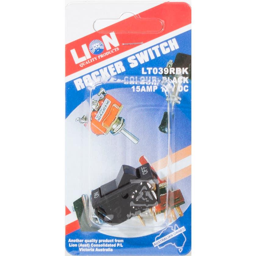 Lion Black Rocker Switch