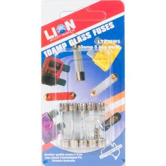 Lion 10Amp Fuse Pack 5 Piece
