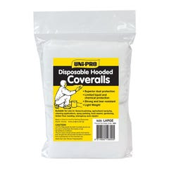 Uni-Pro Coveralls Disposable Hooded Large