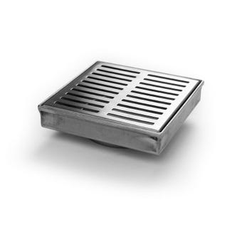 Hayman Stainless Steel Floor Drain Long Rectangle Cover 110mm